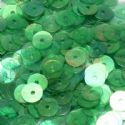 Sequins, green, Diameter 8mm, 260 pieces, 5g, Disc shape, Sequins are shiny, [CZP335]